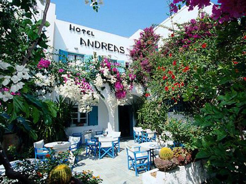 Hotel Andreas in Kamari, Santorin Außenaufnahme
