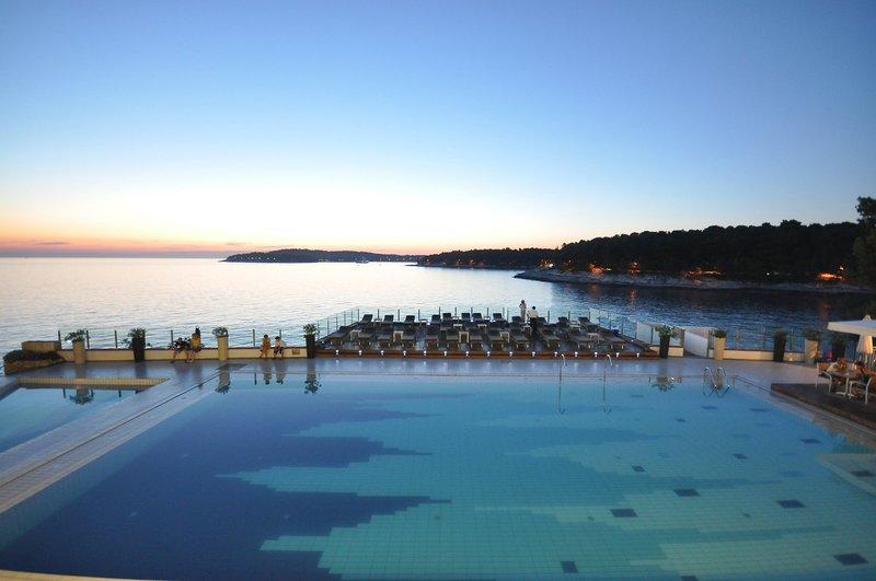 Splendid Resort in Pula, Istrien Strand