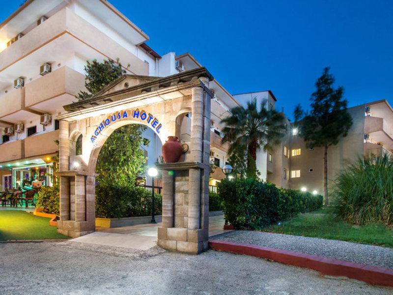 Achousa Hotel in Faliraki, Rhodos Außenaufnahme