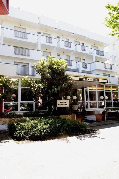 Hotel New Jolie in Rimini, Italienische Adria Außenaufnahme