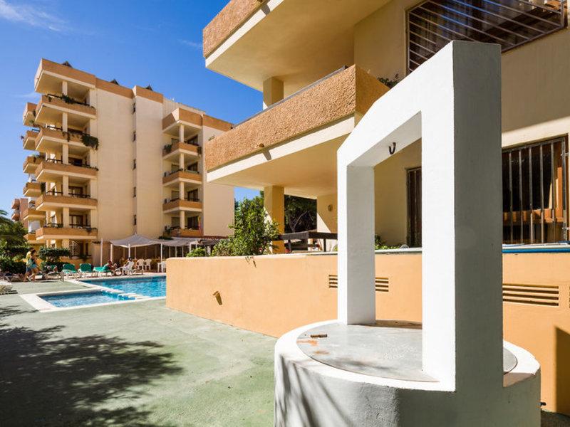Arlanza Apartments in Ibiza-Stadt, Ibiza Terasse