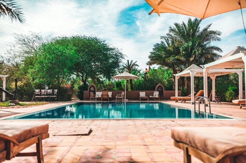 Dar Azawad Hotel in M'hamid El Ghizlane, Zentralmarokko Pool