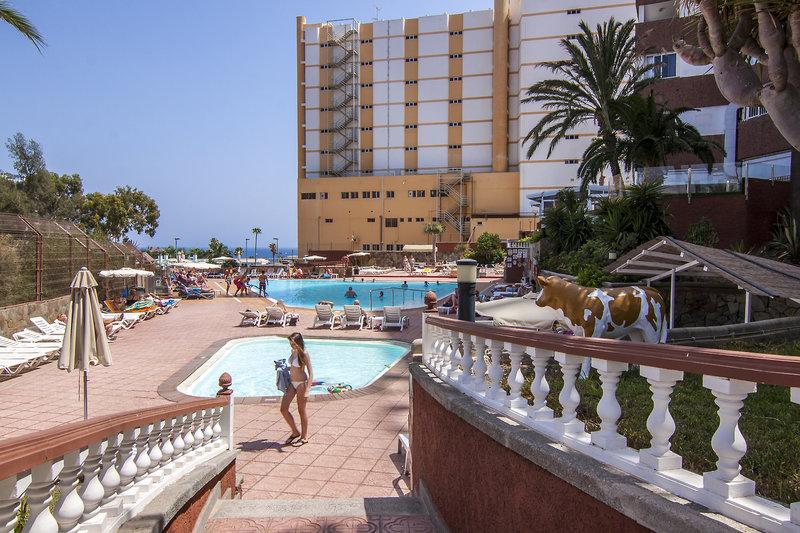 Hotel Corona Roja in Playa del Inglés, Gran Canaria Terasse