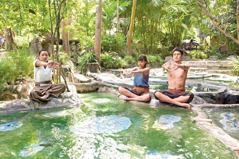 Wareerak Hot Spring Retreat in Khlong Thom, Süd-Thailand Pool