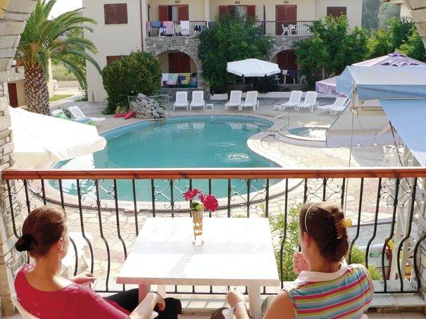 Hotel Argo in Siviri, Chalkidiki Terasse